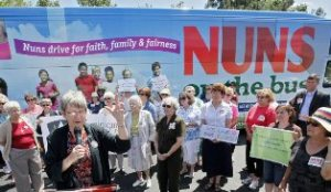 "Nuns criss-cross Ohio to advocate for ""the least of these"" in federal budget."